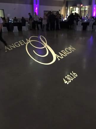 Angela Aaron wedding gobo