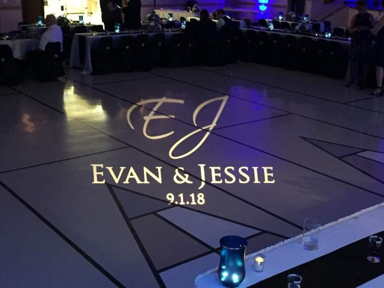 Evan and Jessie's wedding gobo design