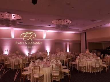 Eyad and Razanne's wedding gobo design