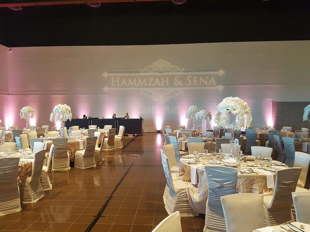Hammzah and Sena's event gobo design