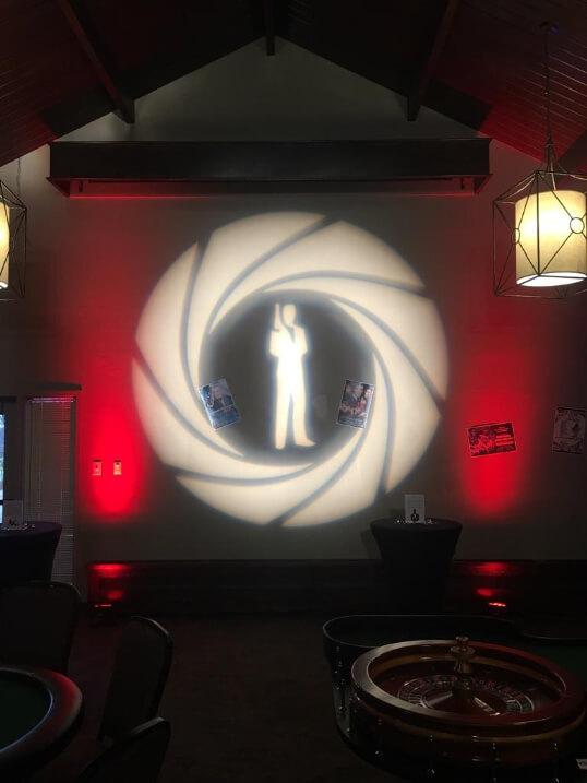 A James Bond event gobo design