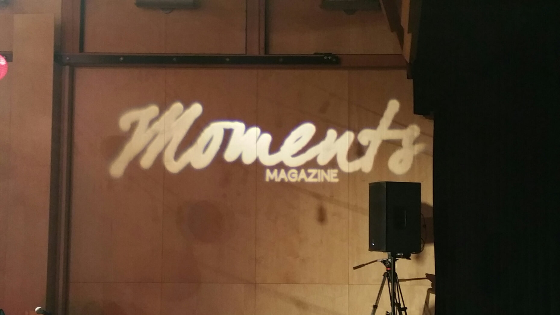 Moments Magazine party gobo design