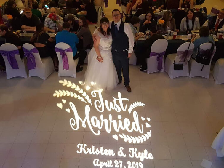 Just married wedding gobo design