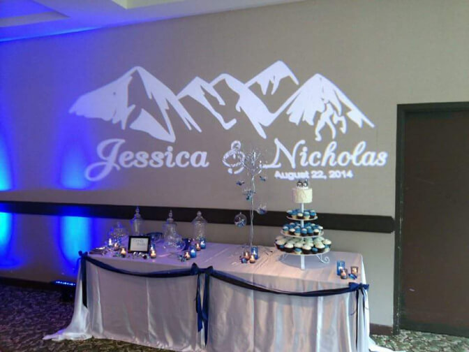 A wedding custom gobo design